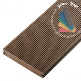 Premium Dolu Wpc Wood Kompozit Deck Brown